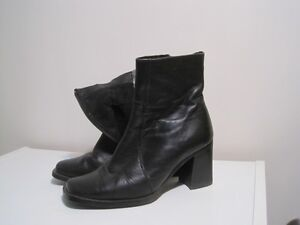 7 size leather short boots, Poland, $40