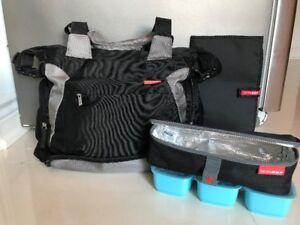 Skip Hop Ultimate Diaper Bag - bonus changing mat & snack boxes