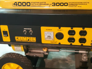 CHAMPION 4000 W/3000 W Generator In Excellent Condition.