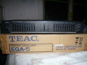 TEAC EQA-5 10 BAND GRAPHIC EQUALIZER.