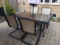 7 Piece Patio Dining Set + Umbrella