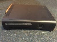 X box 360 with power supply end Wi-Fi adaptor