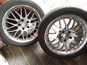 Rims and tires Set