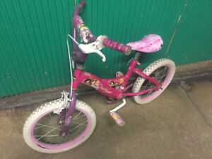 Reduced!Huffy Princess Shimmer 14-in girl bike ready to go