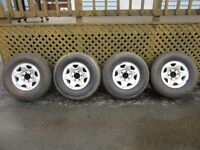 Set of Four BF Goodrich Tires w/Rims