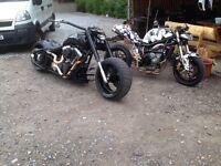 Harley chopper one off