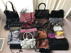 23 women's fine hand bags and purses