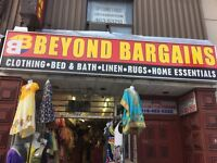 The only clothing and bargain store in the neighborhood..