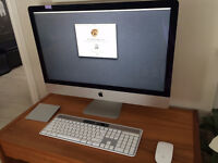 Lightly used late 2012 27-inch Imac for sale with accessories