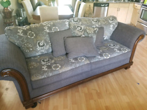 Couch and oversized chair