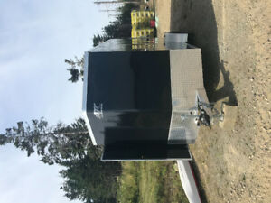 Extra high extra wide enclosed trailer
