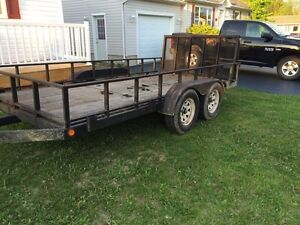 14 foot tandem trailer