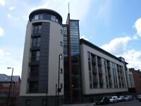 A fabulous 1-bed flat, top floor, south facing, furnitured, in Marconi House NE1 2JS