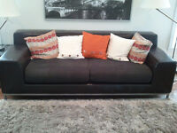 Ikea leather sofa couch