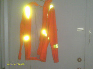 VIKING WORKMANS FR 2XL SAFETY RAINCOAT WITH HOOD