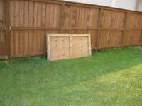 two shed doors