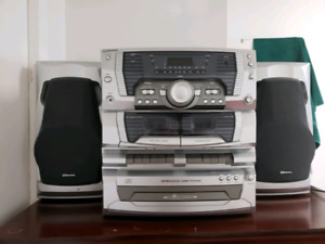 Cassette player and 3 CD player