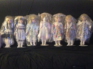 Porcelain Dolls with Stands in Mint Condition Kitchener / Waterloo Kitchener Area image 2