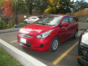 2013 Hyundai Accent *w Winter Tires on Rims*