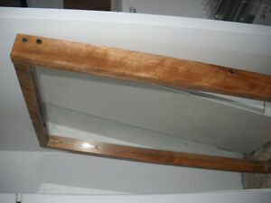 2 Wood Frame Mirrors Industrial Style $40 each