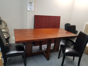 Chairs, desk, whiteboard and more...