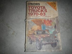 1970 - 1983 toyota truck chilton manual