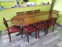 Extendable Dining Table & Set Of 8 Chairs - Can Deliver For £19