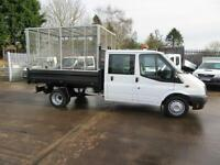 2014 Ford Transit 350 Double Crew Cab Caged Tipper 14k Waste Removal