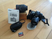Nikon D100 SLR with 2 lenses