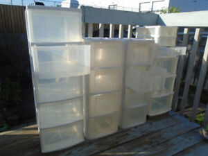 Strong Durable Clear Plastic Storage Shelving Units