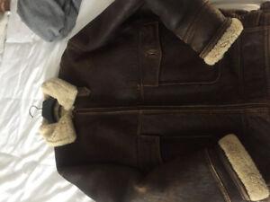 Manteau cuir mouton