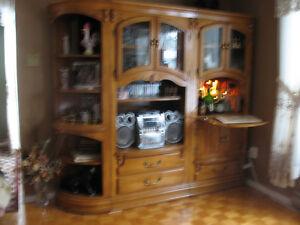 meuble en chêne 3 section PRIX DISCUTABLE