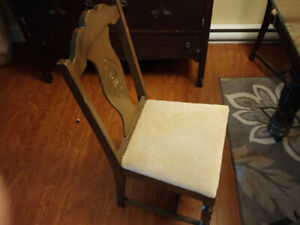 Real wood Chairs for sale recently upholstered