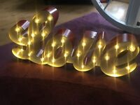 Light up love sign - for wedding/home