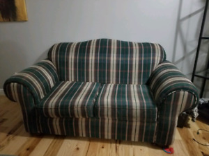Loveseat and matching ottoman, great condition.