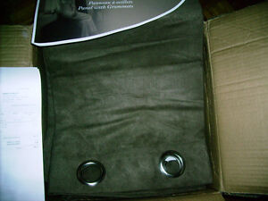 """FAUX SUEDE WINDOW PANELS WITH GROMMETS (52""""X84"""" or 132 X 213CM.)"""