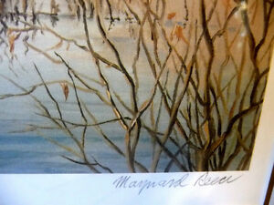 "Hand Signed and Numbered, Maynard Reece ""Wood Ducks"" Lithograph Stratford Kitchener Area image 5"