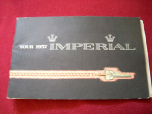 1957 Imperial owner's guide RARE