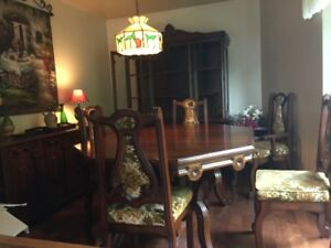Antique Mahogany Dining room set/ Chairs & China cabinet