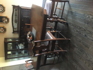 Dining room set with China cabinet and buffet