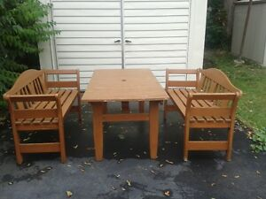Patio solid wood furniture