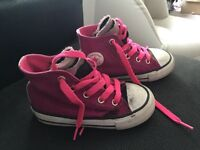Pink Converse Hightops - Infant Size 7
