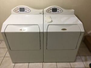 """QUICK SALE Maytag white 27"""" frontload washer & electric dryer"""