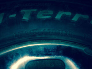 BF GOODRICH TIRES SET OF FOUR