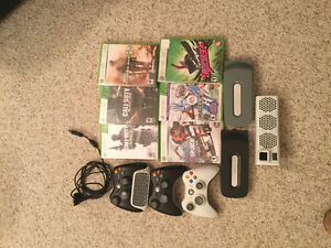 Xbox games, controllers, and hard drives
