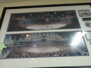 LARGE Maple Leaf Gardens old and new Print picture Toronto Maple