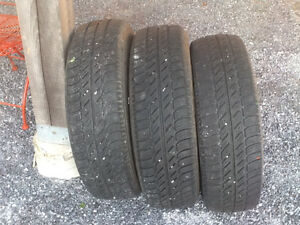 Three all-season 15 inch tires