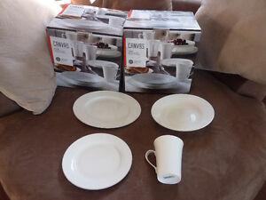 Complete dinnerware set for 8 .