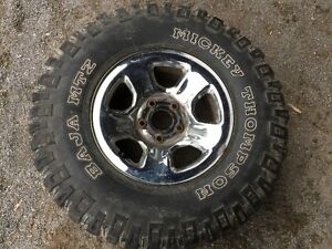 used Mickey Thompson baja 315 70 17 mtx Dodge Ram Rims 17 inch