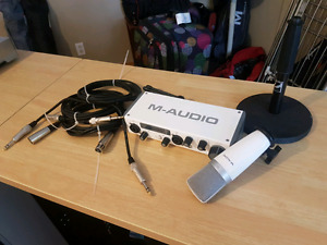 M Audio - USB Audio Interface w/ microphone